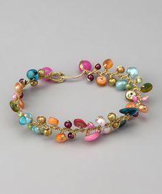 Turquoise & Freshwater Pearl Bella Bracelet by Elly Preston Jewelry