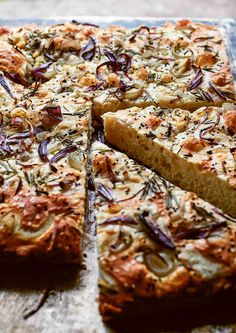 This tender, airy focaccia bread, topped with caramelized onions and fragrant rosemary is the perfect accompaniment to any Italian meal. #bread #breadbaking #focaccia #italian Meal Bread, Italian Recipes, Italian Meals, Rosemary Focaccia, Instant Yeast, How To Make Bread, Caramelized Onions, Cake Pans, Bread Baking