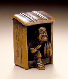 Japan  Fireguard, 19th century  Netsuke, Wood,