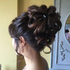 Curled Wedding Hair, Short Wedding Hair, Curl Styles, Short Hair Styles, Wedding Hairstyles Half Up Half Down, Up Hairstyles, Wedding Makeup, Curls, Bob Styles