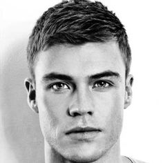 Hairstyles For Oblong Face Shapes - Side Swept Crew Cut