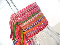 Perfect friendship bracelets for handing out on Valentines Day! 10 Assorted Friendship Bracelets Bulk Order by ClamBoneBracelets