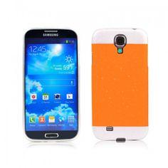 Two-tone Glisten Protective Case for Samsung i9500--Orange - Aulola Online Store $1.58
