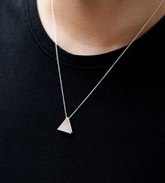 Double Faced Triangle Necklace
