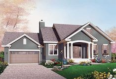 Budget Bungalow - 21977DR   Cottage, Country, Canadian, Metric, 1st Floor Master Suite, CAD Available, PDF   Architectural Designs