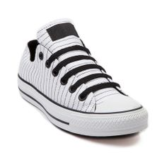 ea9ba2751737 Shop for Converse All Star Lo Pinstripe Sneaker in White Black at Shi by  Journeys.
