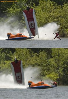 "AMAZING HYDROPLANE FLIP - CRASH - DRIVER ""WALKS"" ACROSS THE WATER!"