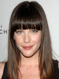 Liv Tyler long face bangs