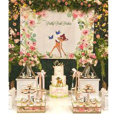 #bambi #bambitheme #bambibirthday #caketable #desserttable #backdrops #cake #shesone #firstbirthday #babyshower #welcomebaby…