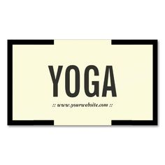 Bold Black Border Yoga Instructor Business Card. This is a fully customizable business card and available on several paper types for your needs. You can upload your own image or use the image as is. Just click this template to get started!