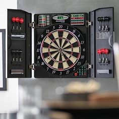 Up to 8 players can play cricket, 301, and 34 other games with 211 exciting variations. It's mounted in a heavy-duty plastic cabinet ample dart storage and tons of bright LED scoring displays. Electronic Dart Board Complete Home Game Set. | eBay!