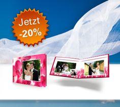 Traut-Euch-Aktion! Die schönsten Bilder von eurer Hochzeit in einem Fotobuch mit Fotocover! Bis 30.5.12. 20 Prozent günstiger!