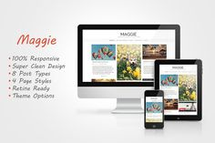 Maggie - Responsive Blog Theme by alexmiron on @creativemarket