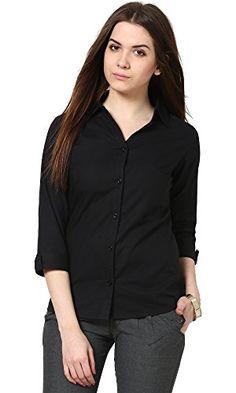 e68bb6343e The Gud Look Women s Black Slim Shirt