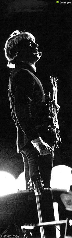 John Lennon    'THE BEATLES ANTHOLOGY' Book  1964  American Tour '64  A fantastic shoot of John on the stage