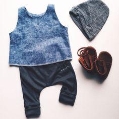 Archer harems + Venice tank | carlymegan | kids style, kids fashion, children's clothing, made in la