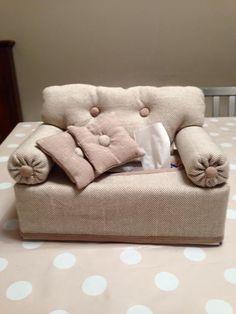 sewing idea for a sofa kleenex box ♥