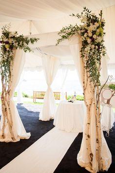 Elegant Waterfront Washington Wedding - MODwedding
