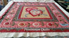 Round Robin quilt made by Betty G.  Longarmed by Le Ann Weaver of Persimmon quilts.