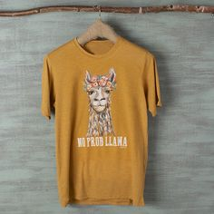 Short sleeve Scoop neck Llama graphic on front Text graphic on front Western Shirts, Western Wear, Workout Vest, Llama Shirt, T Shirt, Short Sleeves, Mens Tops, How To Wear, Clothes