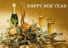New Year Champagne Desktop Wallpaper, New Year 2020 Champagne Wallpaper, New Year 2020 Party Wallpapers, New Year Champagne Glasses Happy New Year Everyone, Happy New Year 2019, Christmas Drinks, Christmas And New Year, Christmas Countdown App, An Nou Fericit, Attractive Wallpapers, Fur Tree, Happy New Year Wallpaper
