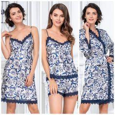 Cute Sleepwear, Satin Sleepwear, Nightwear, Pyjamas, Womens Pyjama Sets, Lingerie, Dress Sewing Patterns, Pajamas Women, Easy Wear