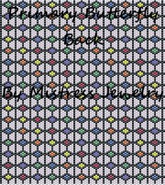 Primary Butterfly Back Word Map & Chart | Bead-Patterns