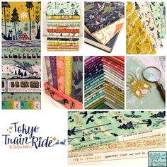 Tokyo Train Ride fabric collection by Sarah Watts