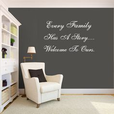 wall decal quote family wall art i like the white quote on the dark wall