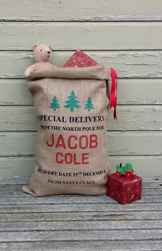A mini Santa's sack for the baby?! Yes, please!