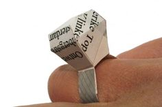 Make a 'Diamond Ring' Out of Waste Paper by Frederike Top