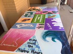 Beer Table, Beer Pong Tables, Diy Table, College Fun, College Crafts, College House, Summer Diy, Summer Crafts, Sorority Crafts