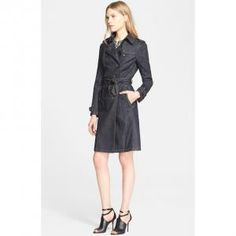 40% off Burberry - Coat Bramdale Trench Denim Indigo - $657 #burberry #coat #denim