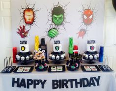 This Superhero Party for 3 is an absolutely smash! You won't want to miss it!! See more party ideas and share yours at CatchMyParty.com