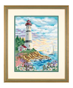 Look at this #zulilyfind! Lighthouse At Sunrise Paint by Numbers Set #zulilyfinds