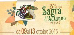 Domenica 11 ottobre al Museo dell'Arpa ingresso ridotto per tutti in occasione della 27a sagra d'Autunno a Piasco. Orario di apertura: 10-13 e 14-17 (ultimo ingresso 16,30)