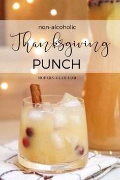 Make this 3 minute Thanksgiving punch perfect for a crowd. This non-alcoholic spicy pear punch is perfect for entertaining. #thanksgiving #thanksgivingrecipes #punch