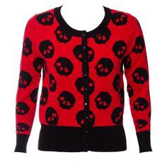 Absolutely love!!! =D Jawbreaker Skulls Cardigan  (Red/Black)