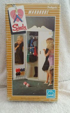 vintage pedigree sindy wardrobe with original box hangars and dress in Dolls & Bears, Dolls, Clothing & Accessories, Fashion, Character, Play Dolls | eBay