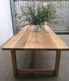 Love the Wood and Finish Farmhouse Table by Rabbit Trap Timber - Table, Rustic Table, Recycled Timber Table, Dining Table, Handcrafted Table Timber Dining Table, Modern Dining Table, Dining Tables, Dining Set, Farmhouse Dining Room Table, Rustic Table, Rustic Kitchen, Kitchen Decor, Rustic Outdoor Furniture