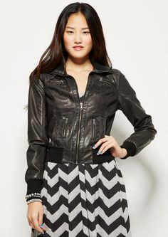 Zip Washed PU Bomber - View All Sale - Sale - mobile - dELiA*s