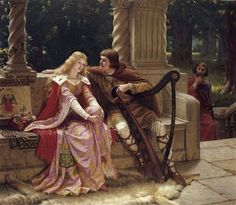 Tristan and Isolde by Edmund Blair Leighton :: artmagick.com