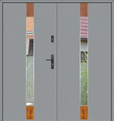 porte double vantaux | porte d entrée double | porte entree double | porte d entrée sécurisée Tall Cabinet Storage, Locker Storage, Lockers, Furniture, Home Decor, Door Handle, Two Story Foyer, Main Door
