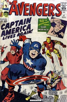 The Avengers #4, March 1964, cover by Jack Kirby and George Roussos