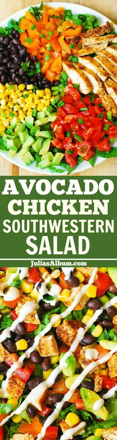 Southwestern Chopped Salad with Buttermilk Ranch Dressing + $100 VISA GIFT CARD GIVEAWAY (ENDS December 30, 2015)  #ad #sponsored by Hidden Valley