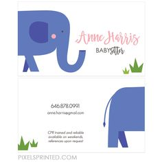 Download this babysitter business card template and other free babysitter business cards reheart Image collections