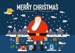 Santa Festive Town Card #Holiday #Party #Ideas #DIY #Printable #cards