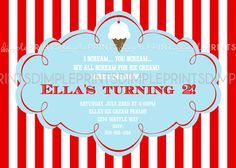 Ice Cream Social Printable Party Invite - Dimple Prints Shop