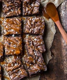 Bourbon Salted Caramel Fudge Brownies. We're pretty sure these are the perfect brownie. Ever.