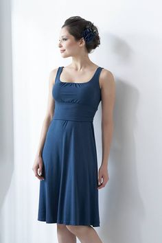 Mothers En Vogue Sleeveless Juliet Nursing Dress, Stargaze Blue - Izzy's Mum Breastfeeding Clothing